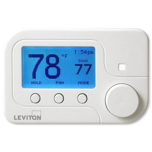 Leviton RC-1000WH Omnistat2 Conventional & Heat Pump Thermostat, White ()