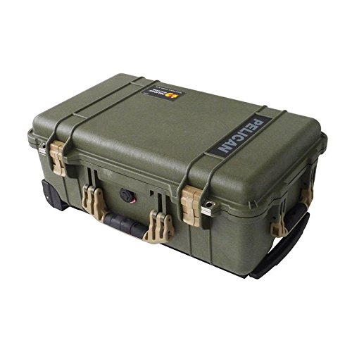 """NEW Pelican """"Colors"""" series - OD Green Pelican 1510 Case wit"""