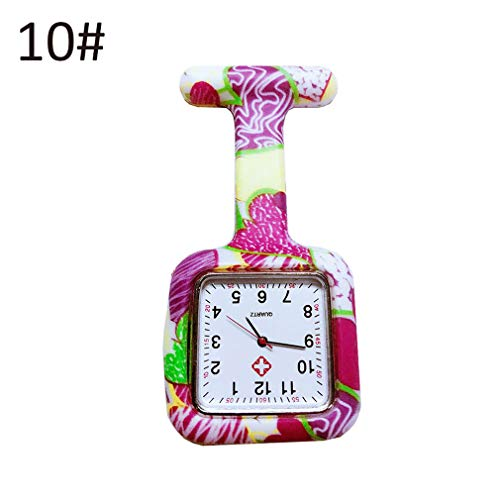 Nurse Silicone Watches Square Dial Quartz Nurse Watch Brooch Doctor Hanging Watches LL@17 - Silicone 3d Optimus