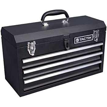 Tactix 321102 3 Drawer Steel Portable Tool Box, 52cm - - Amazon.com