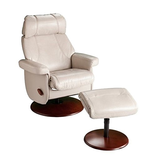 Taupe Leather Rocker Recliner - 4