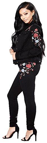 Skinny elastico elastico alta Slim Vita Fit Basic ricamo Jeans Dunland qwEOXaAx