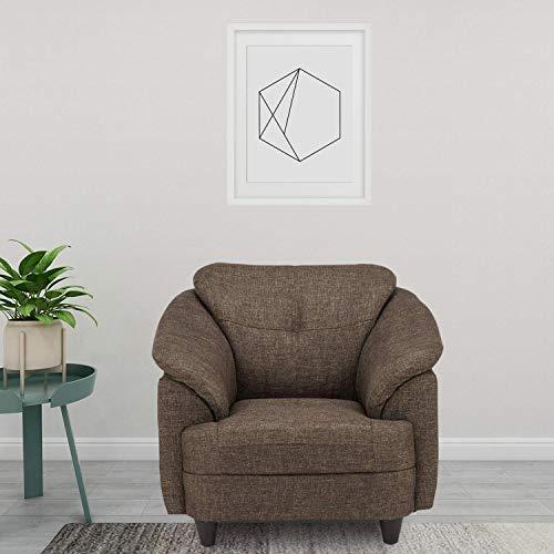 Amazon Brand   Solimo Newport Fabric 1 Seater Sofa  Brown