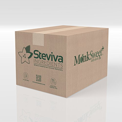 MonkSweet Plus - 25 kg (55lbs) - Monk Fruit, Stevia & Erythritol Blend NonGMO Low Carb Sweetener by Steviva (Image #1)