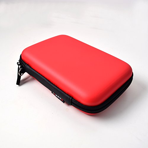 EKYLIN Strong Carrying Case for Mini Projector and Accessories Portable Mobile Protection (Red)