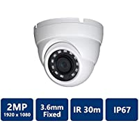 Dahua [Amazing DEAL] HDW1200 2MP IR HDCVI 1080P Eyeball Dome , 30fps@ 1080P, 3.6mm Lens, IR30M, Smart IR, IP67, DC12V (NO LOGO Original Housing Local Support)
