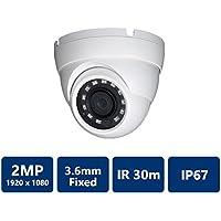 Dahua [Amazing DEAL] HDW1200 2MP IR HDCVI 1080P Eyeball Dome , 30fps@ 1080P, 3.6mm Lens, IR30M, Smart IR, IP67, DC12V (NO LOGO Original Housing Local Support)