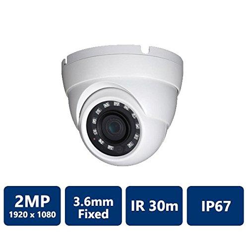 Dahua [Amazing DEAL] HDW1200 2MP IR HDCVI 1080P Eyeball Dome, 30fps@ 1080P, 2.8mm Lens, IR30M, Smart IR, IP67, DC12V (NO LOGO Original Housing Local Support)