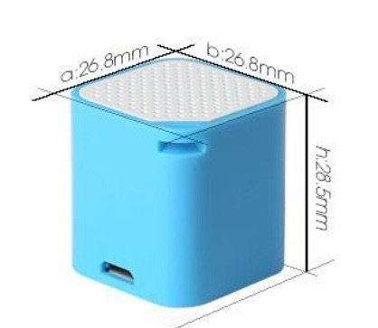 Elsse Micro Music Cube Bluetooth Speaker with Built in Micro