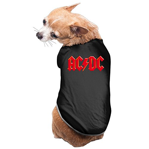 Dog Costume ACDC Band Logo Cozy Puppyclothing Pet (Highway To Hell Costume)