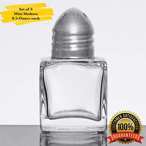 MM Foodservice 0.5-Ounce Mini Salt & Pepper Shaker, Set of 6 Shakers