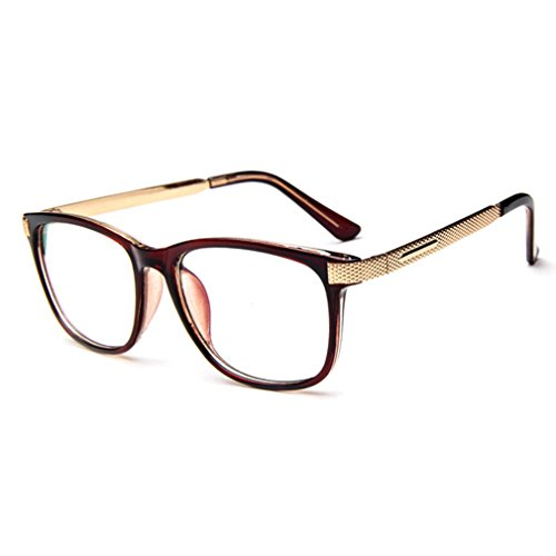 LOMOL Unisex Fashion Classic Retro College Style Transparent Clear Lens Frame Glasses(C7)