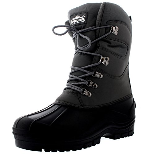 POLAR Mens Snow Hiking Mucker Duck Grafters Waterproof Saftey Thermal Boots - Gray - US14/EU47 - YC0447