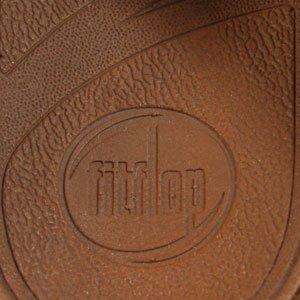 Fitflop - Sandalias de cuero para mujer, color marrón, talla 41.5