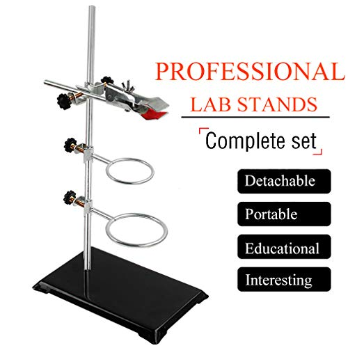 Laboratory Grade Metalware Set with 2 Retort Rings and 1 Cork Lined Burette Clamp 40CM Laboratory Stands Support Lab Clamp Flask Clamp Condenser Clamp Stands Lab & Scientific Supplies Glassware & Labw