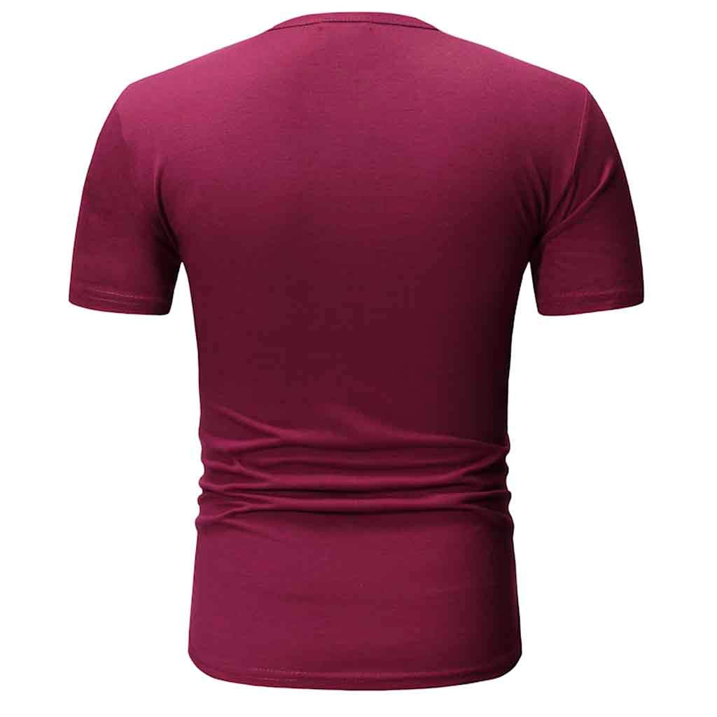 Mens T Shirt Mens Casual Slim Fit Short Sleeve Henley Shirts Cotton Pullover Tees Tops