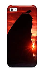 Cleora S. Shelton's Shop Case Cover Protector Specially Made For Iphone 5c Sea Stacks Knife A Blood Red Sky 3209296K14960446