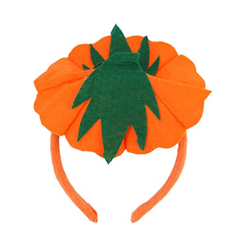 WSSROGY Pumpkin Headband Hat Halloween Headband Costume Accessory Party Favors Decorations One Size Fits All