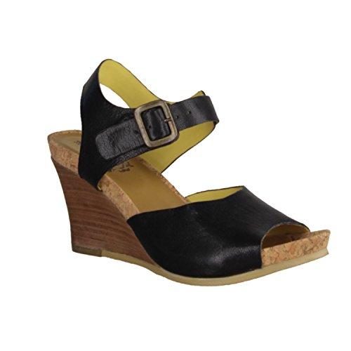 Kickers Hav Good 351421-8 - Zapatos De Mujer Sandalias De Tacón Alto / Honda, Negro, cuero