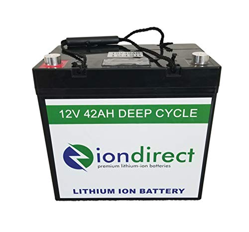 IonDirect 12V 40AH Deep Cycle Premium Lithium Ion Battery LiFePO4