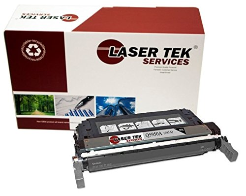 Laser Tek Services Compatible Toner Cartridge Replacement for HP 643A Q5950A (Black, 1-Pack)