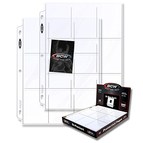 BCW 9 Pocket Trading Pages BOXES