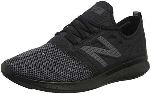 New Balance Men's Coast V4 FuelCore Running Shoe, Black, 9.5 D US