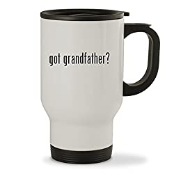 got grandfather? - 14oz Sturdy Stainless Steel Travel Mug, White