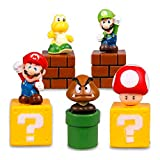 DeQian Super Mario Brothers Birthay Cake Topper, Super Mario Bros Action Figures - Mini Super Mario Bros Figures Mario, Luigi, Mushroom, Goomba, Koopa Troop 2'