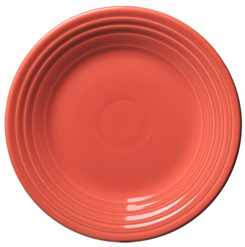 Fiesta 9-Inch Luncheon Plate, Flamingo by Homer Laughlin