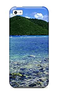 Premium Protection Attractive Landscape Beautiful Beach Tropical Case Cover For Iphone 5c- Retail Packaging