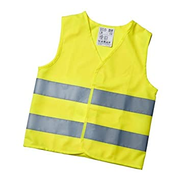 IKEA Kids Patrull 'Hi Vis Waistcoat Safety Reflective Vest for 3 –  6 Years –  Conforms to European standards EN 1150