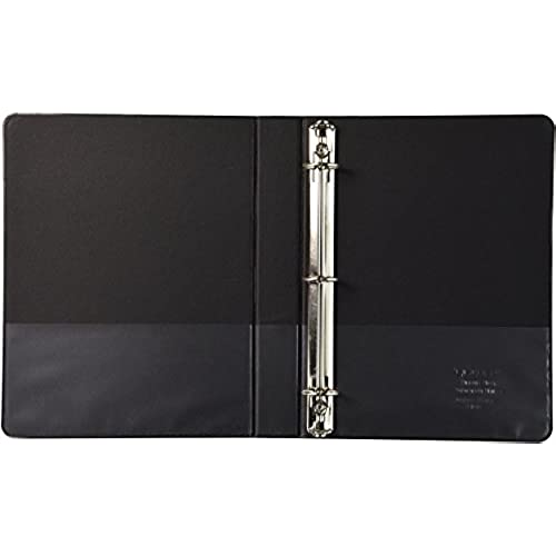sparco 3 ring binder 1 inch capacity 9 1 2 x 6 inches black
