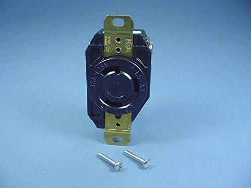 Leviton L5-30R Turn Locking Receptacle Twist Outlet 30A 125V 2610-B Bagged (Leviton Locking Outlet)