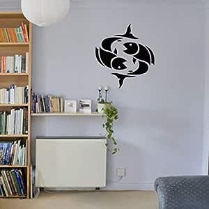 jiushizq Tattoo Star Sign Picture Fish Zodiac Vinyl ...