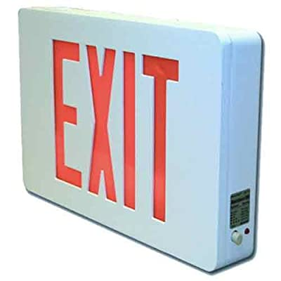 Sure-Lites CX61WH LED Die Cast Exit Sign, White Housing, Single Face, Red and Green Letters