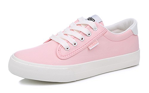 Up Sfnld Lace Flat Canvas Low Womens Pink Sneakers Top qqE1HFr