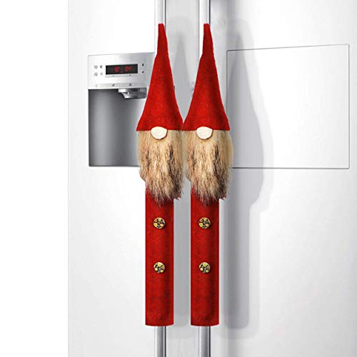 ITOMTE Handmade Swedish Tomte Refrigerator Door Handle Cover - Mini Gnome Kitchen Appliance Handle Covers for Valentine's Day Decoration - Gift Idea - Home Door Cloth Protector, 2 Packs ()