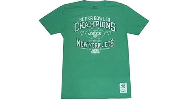 05a1df18 Amazon.com : New York Jets Super Bowl 3 Champions Vintage Slim Fit T ...