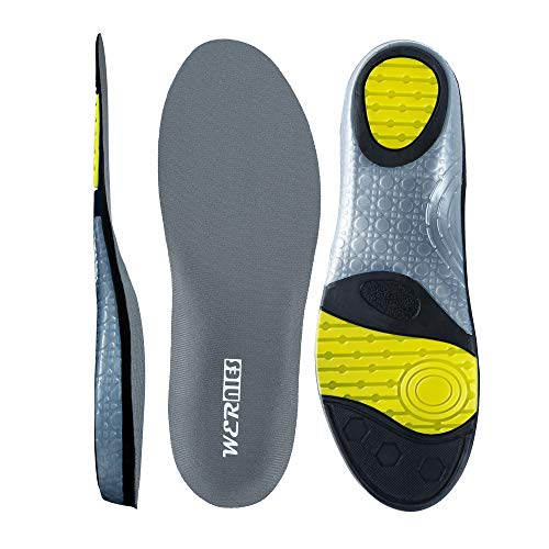 wernies Running Shoes Inserts for Men Women, Athletic Neutral Arch Comfort Insole, Size M Grey ...