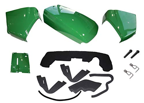 New Kumar Bros USA Upper Hood/Fuel Door with Hardware/Mounting Seal Kit/LH RH Cowls with Cover Fits John Deere 4200 4300 4400