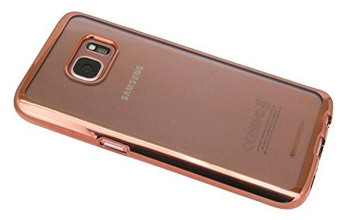 TPU SchutzHülle für Iphone 8 PLUS Silikon Hülle Etui Case Cover Silikontasche in Transparent mit Rose-Umrandung Silikonschale Tasche Bumper Zubehör @ Energmix ?