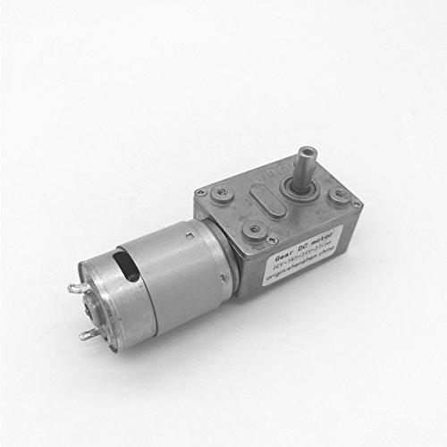 Bringsmart 8-200rpm Worm Motor Reverse 6-24V High Torque DIY Part Rotating Table Door Lock(JGY385 24V 8rpm,) by Bringsmart