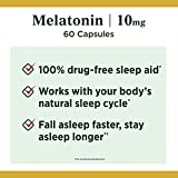 Melatonin by Nature's Bounty, 100% Drug Free Sleep