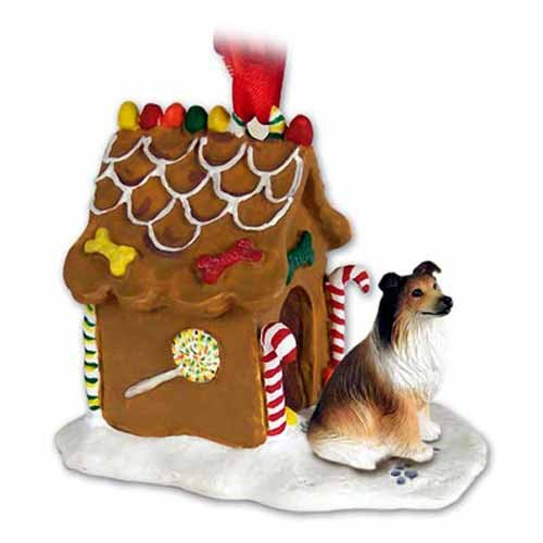 Sable Collie Figurine (Collie Gingerbread House Christmas Ornament Sable - DELIGHTFUL!)