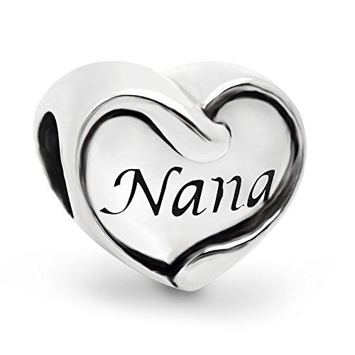 Best Nana Heart Charm - 9