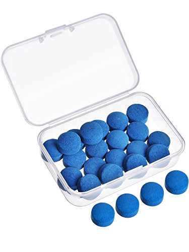 - Gejoy 20 Pieces Cue Tips 13 mm Pool Billiard Cue Tips Replacement with Storage Box for Pool Cues and Snooker, Blue