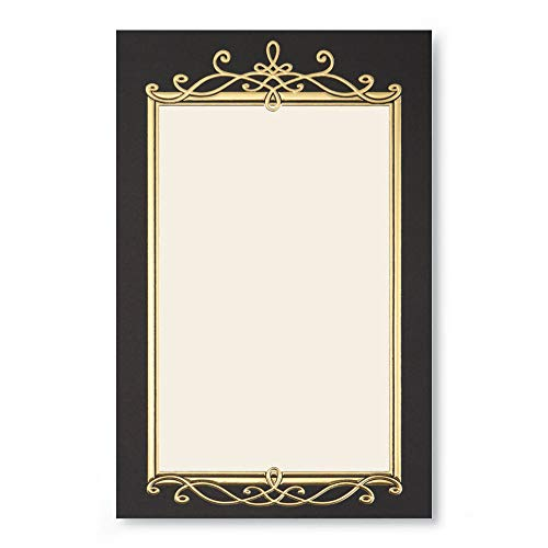 Black Border Flat Invitations with Gold Foil Embossed Accents, 28 Count]()