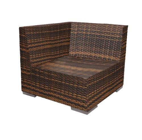 Ohana 9-Piece Outdoor Patio Furniture Sectional Conversation Set, Mixed Brown Wicker with Beige Cushions – No Assembly with Free Patio Cover