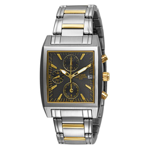 PULSAR Men's PF8145 Chronograph Two-Tone Stainless Steel ...
